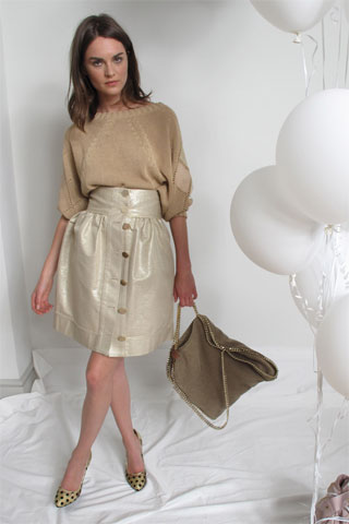 Stella M. Pale Gold Skirt