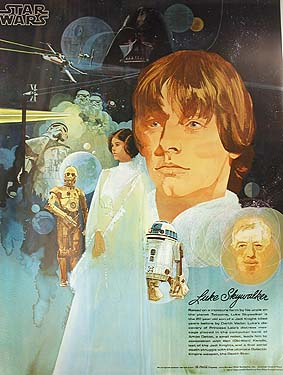 Luke Skywalker Vintage Poster